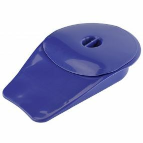 Comfort Bedpan With Lid - Blue