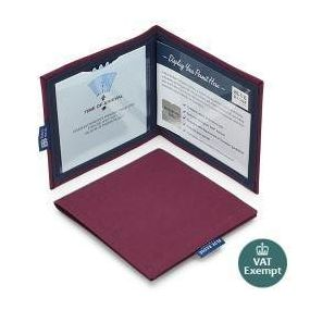 Cloth Blue Badge Wallet - Burgandy Panama