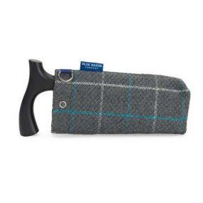 Folding Walking Stick Bag  - Azure Check