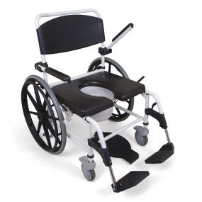 Bariatric Self Propelled Showering Toileting Commode Chair