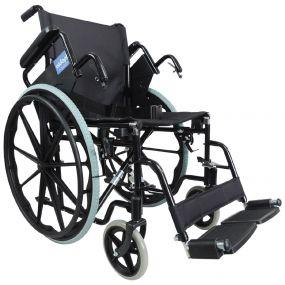 Self Propelled Steel Transit Chair - Black