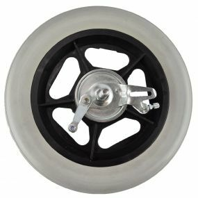 Wheelchair / Mobility Aid Castor Wheel Solid - 300x45mm (With Left Drum Brake)