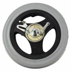 Wheelchair / Mobility Aid Castor Wheel Solid - 300x50mm (With Left Drum Brake)