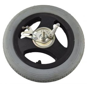Wheelchair / Mobility Aid Castor Wheel Pneumatic - 310x55mm (With Left Drum Brake)