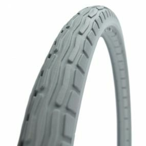 Green Tyre - Solid Grey Wheelchair Tyre - 20 x 1 3/8