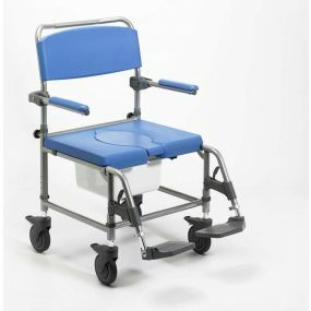 Shower Commode Chair Wheeled Wide Attendant Propelled - 22