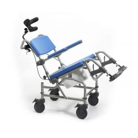 Deluxe Tilt In Space Shower Commode Chair