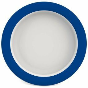 Ornamin Plate With Sloped Base - 26cm - Blue & White