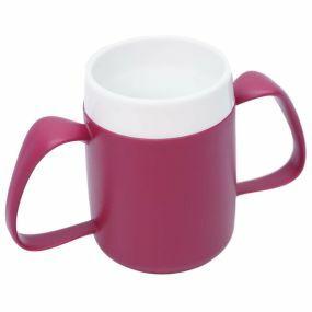 Ornamin Two Handled Mug + Internal Cone - Blackberry & White