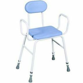 Deluxe Perching Stool - Adjustable Height (Tubular Arms and Padded Back)