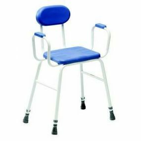 Deluxe Perching Stool - Adjustable Height (Padded Arms with Padded Back)