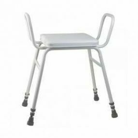 Perching Stool - Adjustable Height (Arms only in White)