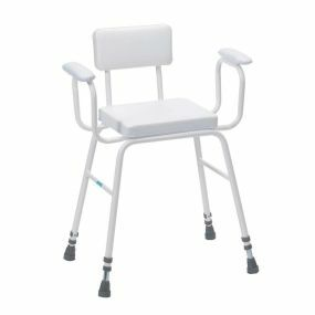 Perching Stool With Padded Back & Arms