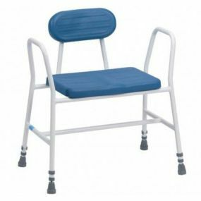 Deluxe Bariatric Perching Stool - Tubular Arms and Padded Back