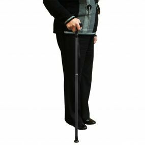 Adjustable Walking Stick Contoured Handle - Black (   )