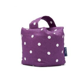 Blue Badge Door Stop - Purple Spotty