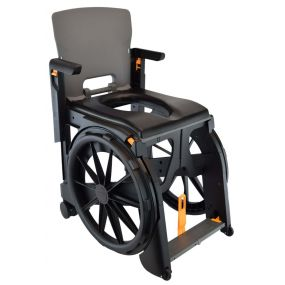 Wheelable Lightweight Travel Commode / Shower Chair