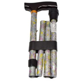 Folding Walking Stick T Handle - Blossom Yellow (33 - 37