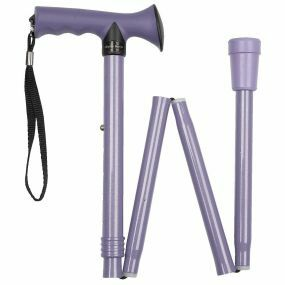 Folding Walking Stick Gel T Handle - Lilac (31 - 35