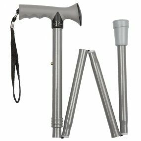 Folding Walking Stick Gel T Handle - Grey (31 - 35