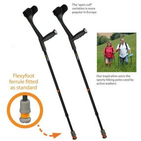 Flexyfoot Open Cuff Crutch - Single