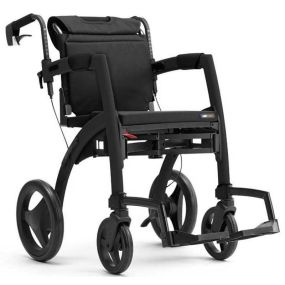 Rollz Motion Rollator/Wheelchair - Matt Black (Small)