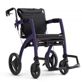 Rollz Motion 2-in-1 Rollator Transport Chair - Dark Purple