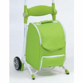 Shop N Sit Trolley  - Green & White