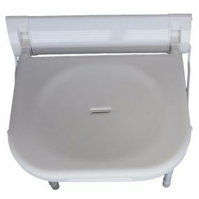 Stainless Steel & Plastic Wall Mounted Shower Seat - With Legs