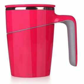 Non-Tip Vacuum Cup / Anti-Spill Mug - Red