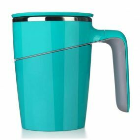Non-Tip Vacuum Cup / Anti-Spill Mug - Turquoise