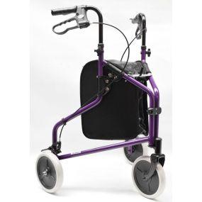 Alloy Tri- Walker With Loop Brakes - Purple