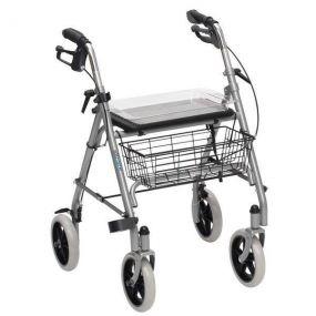 Deluxe Steel Rollator - Silver