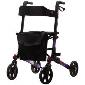 Deluxe Fold Flat Rollator - Purple