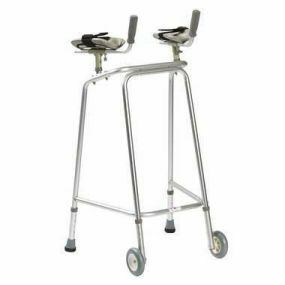 Standard Forearm Zimmer Frame - Large (With Wheels)