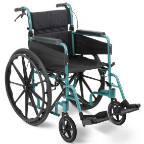 Escape Lite Self Propelled Wheelchair - Racing Green - Narrow