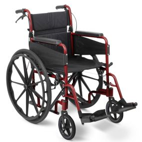 Escape Lite Self Propelled Wheelchair - Red - Narrow