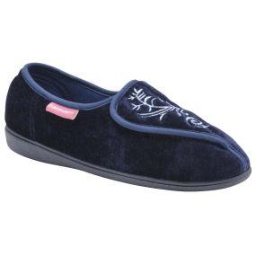 Ladies Elena Slippers - Size 8 (Navy)