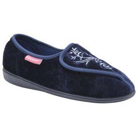 Ladies Elena Slippers - Size 6 (Navy)