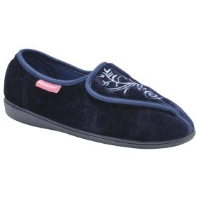 Ladies Elena Slippers - Size 3 (Navy)