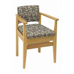 Deluxe Armchair Style Commode Chair - Tapestry