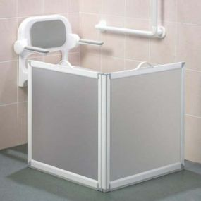 Freeway 90cm High 2 Panel 65x65cm with Handles Fitted