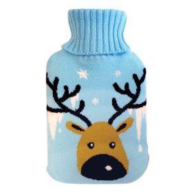 2 litre Hot water Bottle & Cover - Reindeer