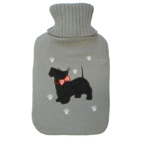 2 litre Hot water Bottle & Cover - Westie