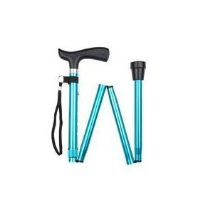 Folding Walking Stick Crutch Handle - Teal (32 - 36