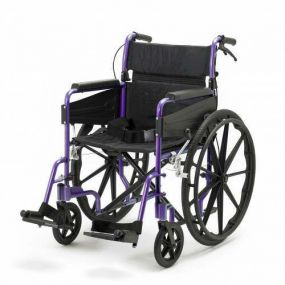 Escape Lite Self Propelled Wheelchair - Purple - Wide