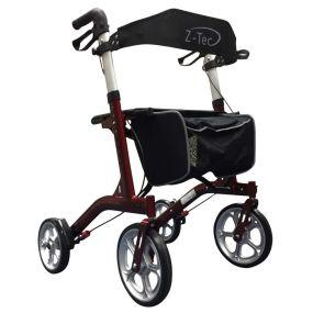 ZT-Style Aluminium Outdoor Rollator - Red