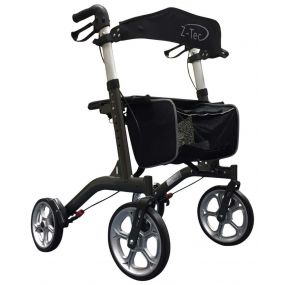 ZT-Style Aluminium Outdoor Rollator - Grey