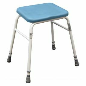 Blue Padded Perching Stool