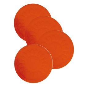 Economy Non Slip Table Coasters - Pack of 4 - Red